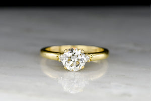 Vintage Mid-Century Tiffany & Co. Engagement Ring with a Transitional Cut Diamond Center