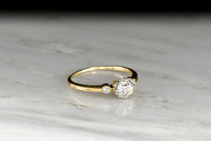 Petite Late Victorian Three-Stone Diamond Ring