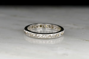 Art Deco / Early Mid-Century Faint Cape Diamond Band
