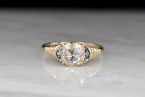 Vintage Mid Century 1.02 Carat Rose Cut Diamond Ring