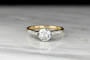 Late Victorian / Belle Époque Gold and Platinum Eight-Prong Diamond Ring