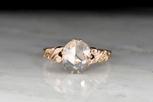 Victorian Cushion Rose Cut Diamond Ring