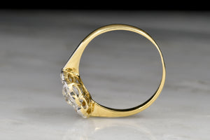 RESERVED!!! Belle Époque 18K Gold and Platinum Old European Cut Diamond Cluster Ring