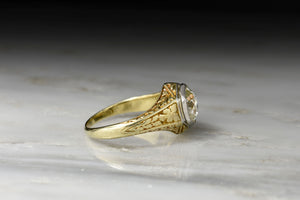 1.46 Carat GIA Certified Old European Cut Diamond in a Late Victorian Mount