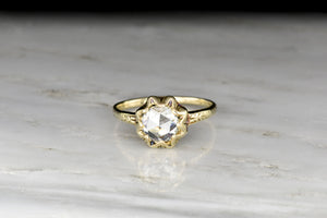 Late Victorian Engagement Ring with a GIA 1.05 Carat Rose Cut Diamond