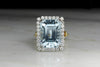 RESERVED!!! Retro Two-Tone Aquamarine and Diamond Ring
