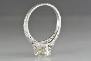 1.20 Carat Old European Cut Diamond in Antique c. 1910 High Edwardian Engagement Ring