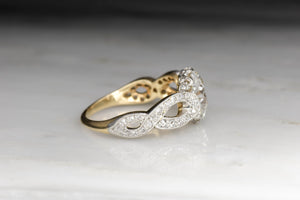 Antique Late Victorian / Edwardian T.B. STARR Engagement Ring with a 2.22 Carat Antique Cushion Cut Diamond Center