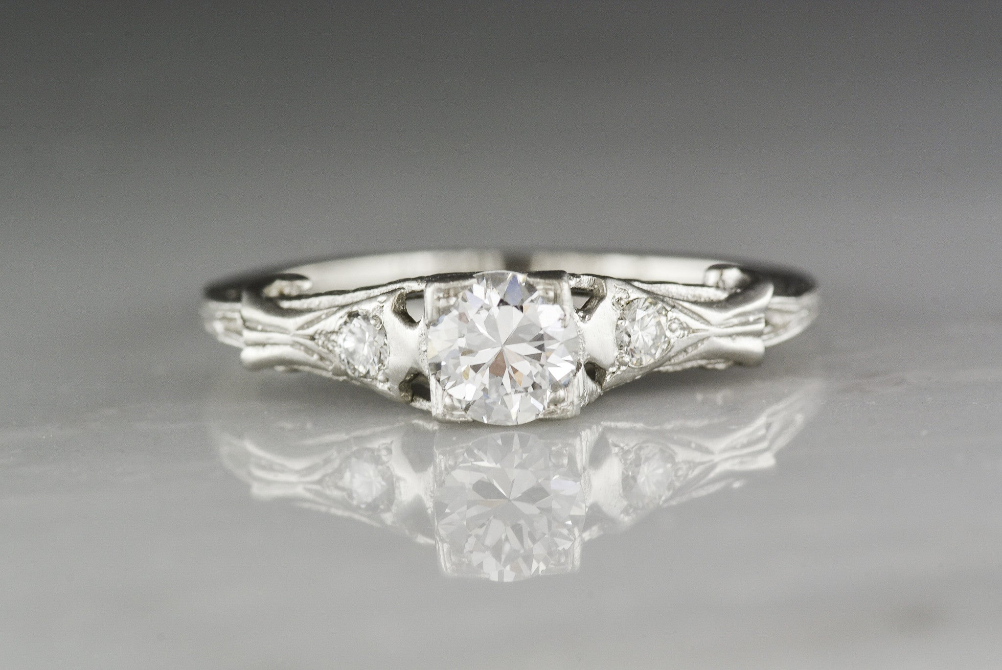 deco vintage sweet diamonds two et toi stone art ring moi diamond rings engagement fetheray products