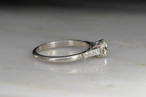 Edwardian / Art Deco GIA .72 Carat Old European Cut Diamond Engagement Ring
