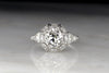 "Edwardian ""Tiffany & Co."" Platinum Engagement Ring with a GIA Certified 1.28 Carat Diamond Center"