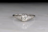 Circa 1920s Diamond Engagement Ring With Ornate Filigree