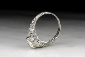 Antique Edwardian Old European Cut Diamond Engagement Ring