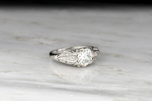 Ornate c. 1930s Post-Edwardian Diamond Ring