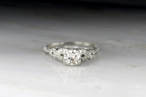 Vintage Art Deco Old European Cut / Transitional Cut Diamond Engagement Ring