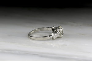 Vintage Art Deco / Post-Edwardian 1.16 Carat Old Mine Cut Diamond Engagement Ring