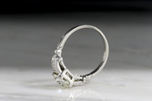 Art Deco / Post-Edwardian 1.16 Carat Old Mine Cut Diamond Engagement Ring