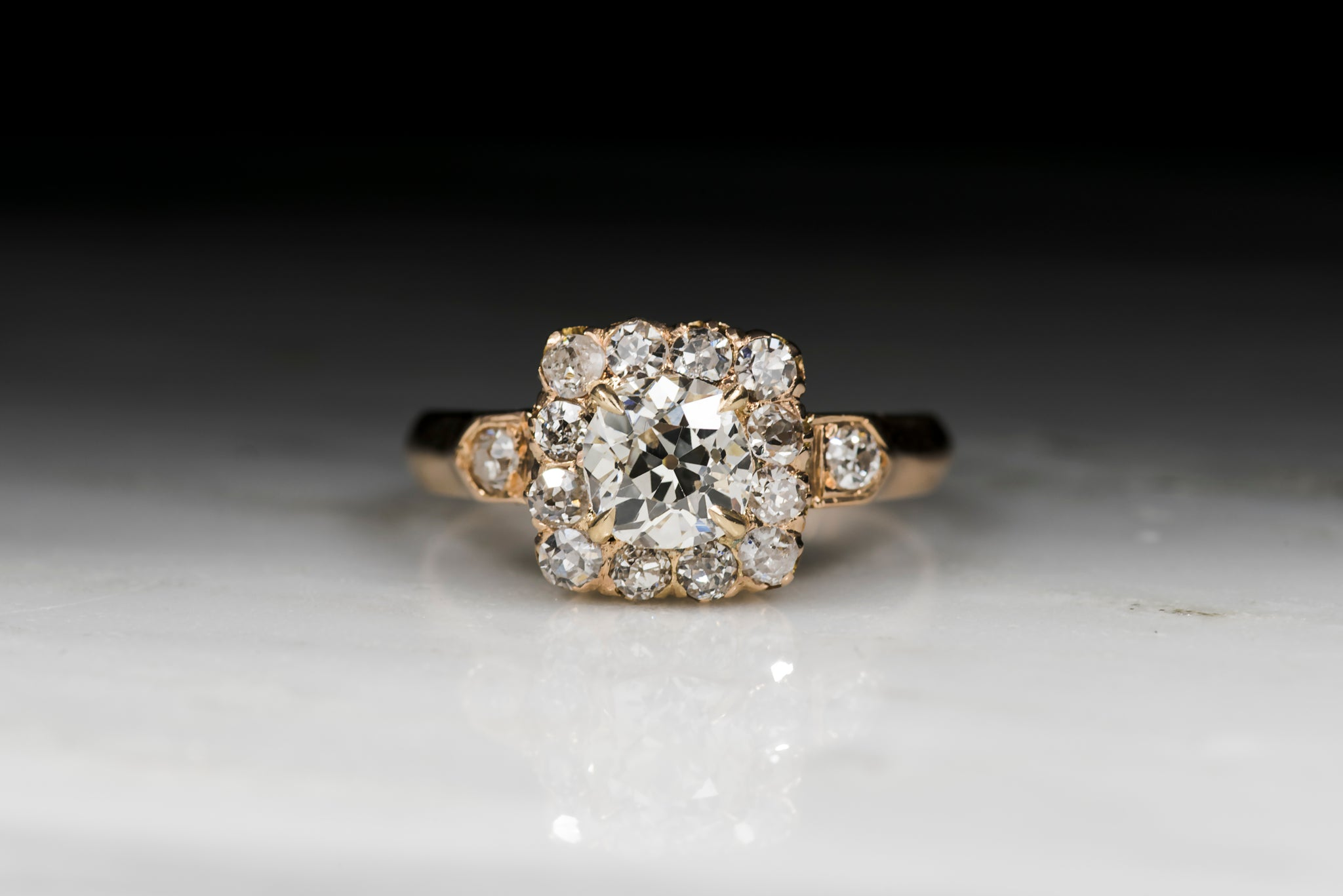stacking cushion settings semi engagement gold square ring yellow mount bbbgem diamond setting cut halo rings
