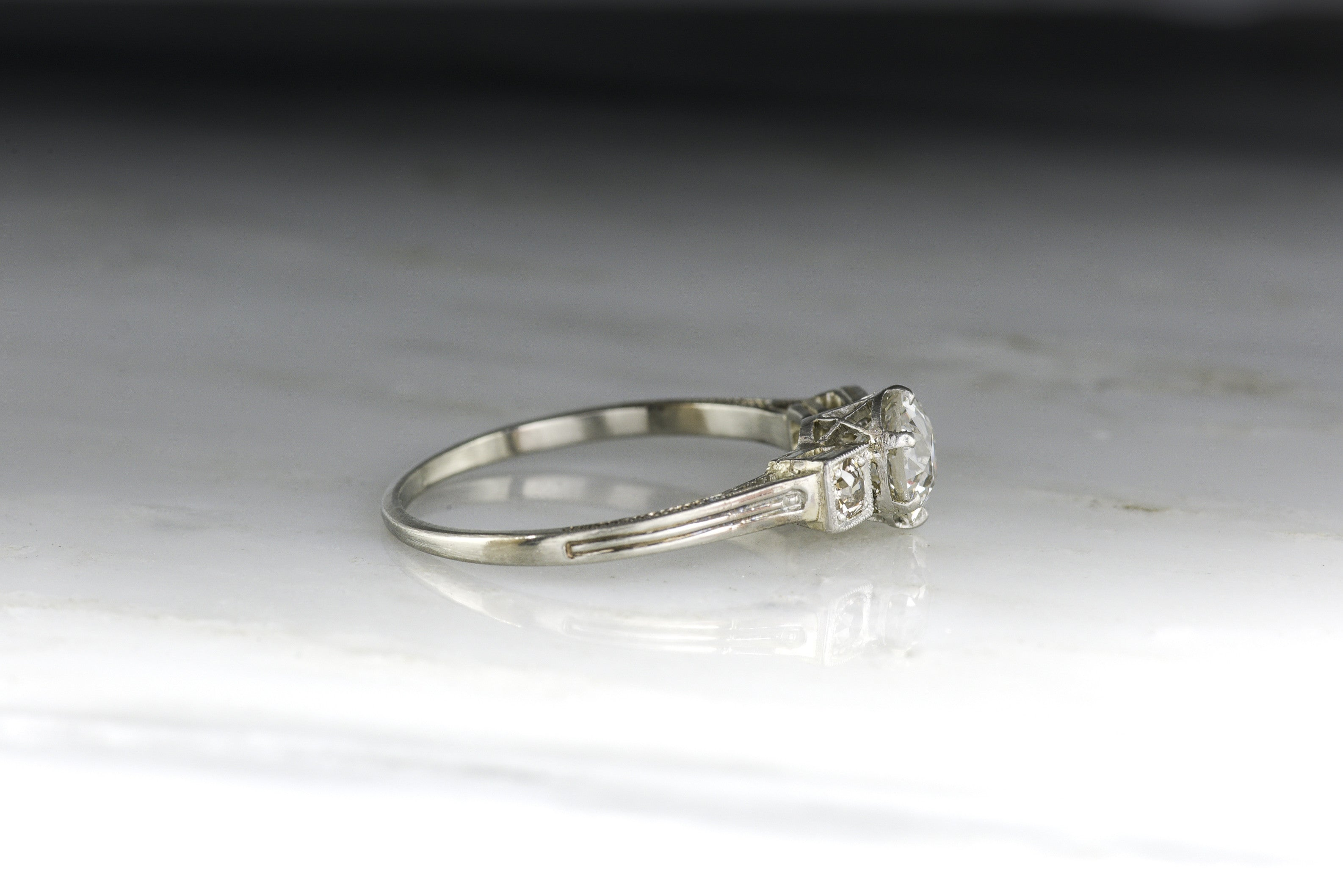 Retro Design With A 95  Carat Old European Cut Diamond Center (110 Ctw)