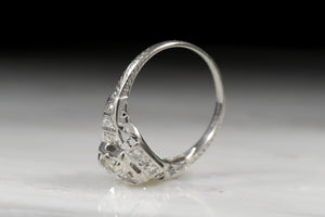Vintage Art Deco Late Old European Cut / Transitional Cut Diamond Engagement Ring