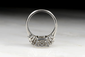 Vintage Art Deco 1.42 Carat Old European Cut Diamond Engagement Ring
