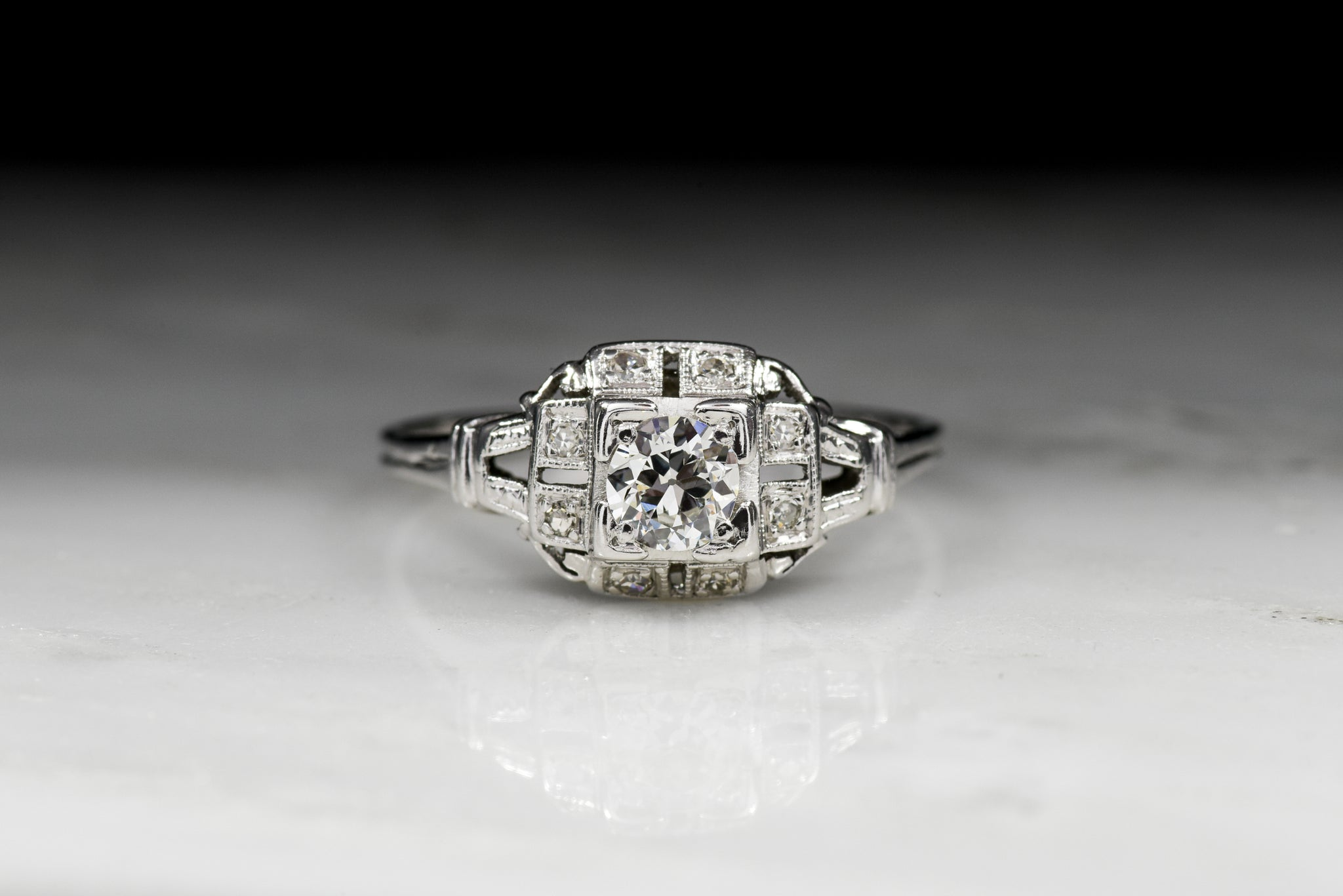 fine diamond products ring daimond estate carat rings white jewelry engagement forevermark gold
