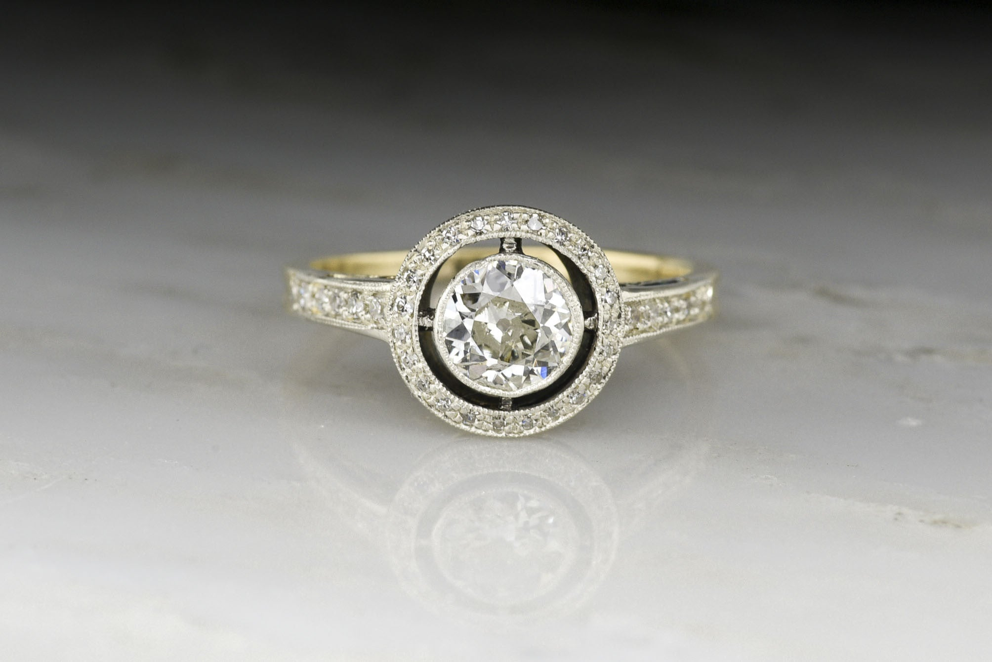 idea antique victorian european low center rings deco an cut ring with lovely engagement profile diamond art wedding of old late