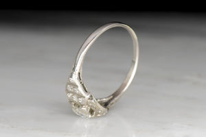 Low-Profile Art Deco / Retro Engagement Ring with Transitional Cut Diamond Center