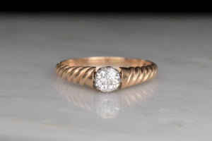Antique c. 1910s Old European Cut Diamond Engagement Ring
