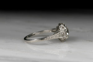 Edwardian 1.12 Carat Old European Cut Diamond Engagement Ring