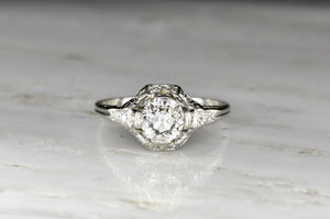 Late Edwardian (c. 1920s) Engagement Ring with Neoclassical Detailing