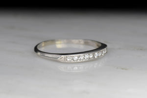 Late Art Deco / Retro Single Cut Diamond Band