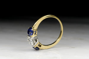 Vintage Tiffany & Co. Old European Cut Diamond and Sapphire Ring