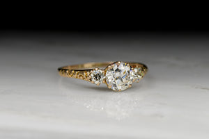 Antique Victorian Three-Stone Old European Cut Diamond Engagement Ring (1.14ctw)