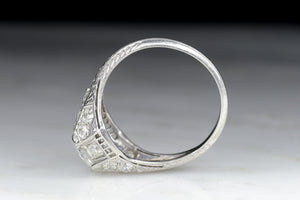 Antique Edwardian Engagement Ring with Old Mine Cut Diamond