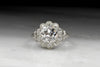 Vintage Engagement Ring--1910s Edwardian Old Mine Cushion Cut Diamond