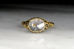 Antique Victorian Rose Cut Diamond Engagement Ring