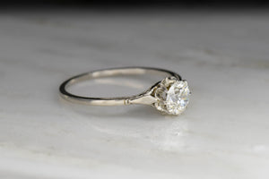 Late Edwardian Buttercup Ring With GIA Old European Cut Diamond