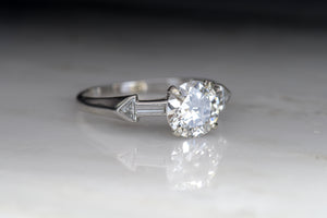 Mid-Century 1.17 Carat Old European Cut Diamond Engagement Ring
