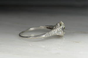 Edwardian Engagement Ring with a GIA 2.58 Carat Old European Cut Diamond