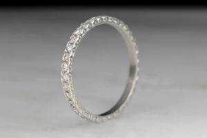 Art Deco Platinum Eternity Band