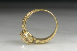 Victorian Engagement Ring with a GIA Certified 1.82 Carat Old European Cut Diamond