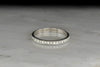 Classic Vintage Single Cut Eternity Band
