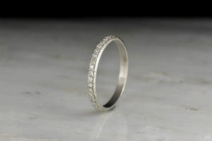 Petite Single Cut Diamond Eternity Band