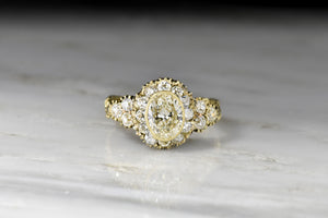 RESERVED!!! Late Victorian Diamond Cluster Ring with Ornate Deep-Relief Engraving