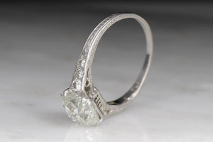 Edwardian GIA Certified 2.07 Carat Old Mine Cut Diamond Engagement Ring