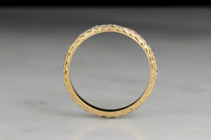 Vintage 18K Gold Eternity Band with Engraving