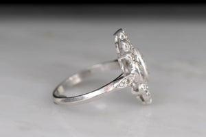 Vintage Art Deco / Retro Platinum and Diamond Navette Ring