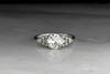 Transitional Cut Art Deco Diamond Engagement Ring with Geometric Shoulder Accents