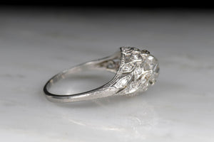 Vintage Edwardian Platinum Diamond Engagement Ring